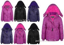 Manteaux, vestes et tenues de neige avec capuche manches longues en polyester pour fille de 2 à 16 ans