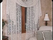 """Heritage Lace Brighton-45""""x126"""" Scarf Floral Plain-Ivory."""