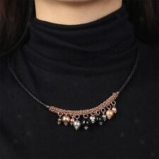 Fashion Bead Balls Pendant Elegant Cute For Girls Women Black Rope Necklace