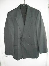 M&S men's Grey woolen Double breasted Jacket with grey and blue lines, size 38
