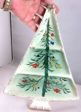 VINTAGE HOLT HOWARD MID CENTURY CHRISTMAS TREE SHAPED DIVIDED SERVING DISH