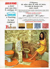 PUBLICITE ADVERTISING 055  1969  CATALOGUE LA BLANCHE PORTE tapis de bain COROLL