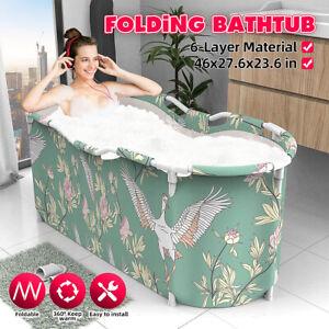 Folding Bathtub Portable Water Tub Indoor Outdoor Room Adult Spa Foldable Bath 1