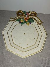 """Fitz And Floyd Snowy Woods 9"""" Plate"""