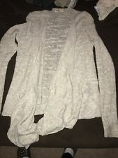 Hollister Taupe Cardigan Sweater Size XS