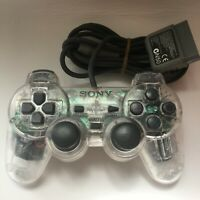 Sony PS1 Controller Original Crystal Playstation 1 SCPH-1200 Japan  w/ TRACKING