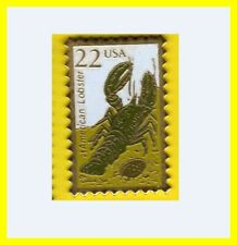 Pin's lapel pin Pins en forme de timbre Crustacé Homard American Lobster USA