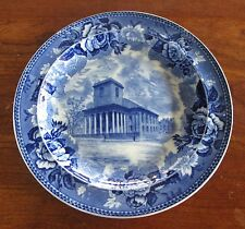 Antique Wedgwood  Flow Blue Transfer England King's Chapel Copyright 1827