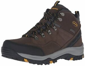 Skechers Mens 64869 Closed Toe Ankle Cold Weather Boots, Khaki, Size 10.5 9VOU
