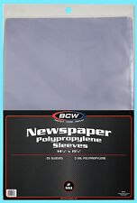25 BCW 14X19 NEWSPAPER 2 MIL STORAGE SLEEVES Clear Poly Art Photo Print 14x19