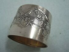Portugal boar silver Napkin Ring With bird and flowers
