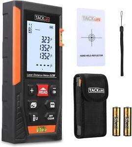 Tacklife HD60 Classic Laser Measure M/In/Ft Mute Laser Distance Meter Measurer