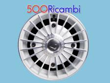 """FIAT 500 F/L/R 126 4 CERCHI IN LEGA BIANCHI DIAMANTATI RUOTE DA 12"""" EPOCA 4x190"""