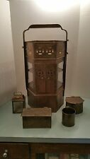 Oriental Asian Antique Brass Server Noodle Cart Stand Warmer Street Vendor