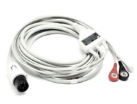 AAMI MINDRAY ECG EKG Cable 6 Pin 3 Leads Snap AHA Compatible - Same Day Shipping