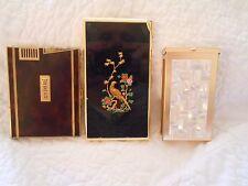 antique/vintage ronson, colibri with cigarette case with lighter lot...