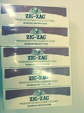 Zig Zag Premium Filtered King Size Cigarette Tubes - Lot Of 5 Boxes=1,000 Tubes