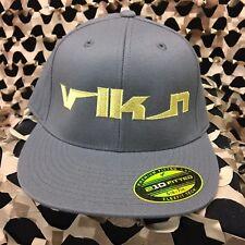 New Valken Vlkn Fitted Hat - Dark Grey/Yellow - 6 7/8 - 7 1/4