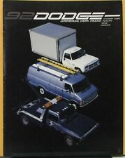 1992 Dodge Commercial Work Trucks Chassis Cab Pickup Van Wagon Sales Brochure