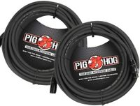 2-Pack PIG HOG 50' Ft Microphone Cable XLR Lifetime 8mm Tour Grade PHM50 NEW