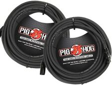 2-Pack Pig Hog 50ft Microphone  Cable PHM50 8mm Tour Grade Mic Mike XLR NEW