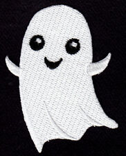 HALLOWEEN GHOST - SCARY - GHOSTS - TRICK OR TREAT - Iron On Embroidered Patch
