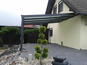 Aluminium Terrassendach, Überdachung, Regenschutz, Carport 4x3 m