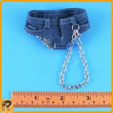 Female Fighter Poison - Jean Shorts w/ Chain - 1/6 Scale - Super Duck Figures