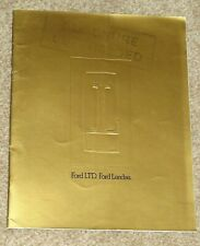 1975 FORD LTD & LANDAU Large Format Sales Brochure (Australian Market)