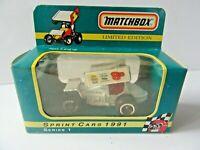 Vintage 1991 Matchbox Limited Edition Doug Wolfgang #8 Sprint Car Series 1 GL220
