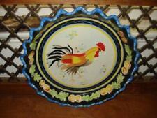 "Vintage~Mesa International~Rooster~Ruf fled Edge~10""~Pie Plate~Euc!"
