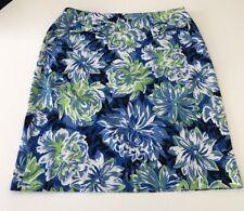 Grace Elements Women's Sz 14 Multi-Color Floral Skirt Two Front Pockets