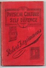 VERY RARE ANTIQUE 1907 U.K.FIRST EDITION BOXING BOOK BY BOB FITZSIMMONS,