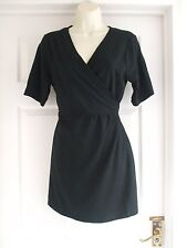 W Womens black top wrap style Fit Size 16 Stretch Ladies SMART SUMMER WORK