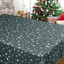 Tischdecke Weihnachten Sterne allover Druck Farbe anthrazit 130x160 cm