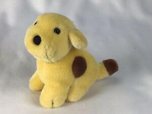 "Eden Plush Spot The Dog Sitting Yellow Brown Puppy Dog 5.5"" Stuffed 1993"