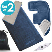 XL Heating Pad Gift Set of 2 – Shoulder & Neck Heating Pad Moist Heating Option