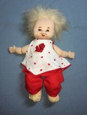 """15"""" Ugly Doll No Brand Name Red Pants Heart Shirt Pigtails Lovey EUC Valentine"""