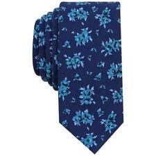 Bar III Mens Cana Blue Floral Print Slim Dress Neck Tie O/S BHFO 0603