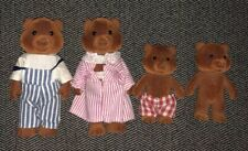 Calico Critters Sylvanian Families Vintage Toy Family Brown Bear Mom Dad Kids