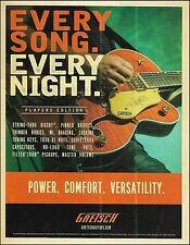 The 2016 Gretsch Players Edition Chet Atkins guitar ad 8 x 11 advertisement