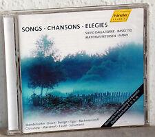 CD SONGS CHANSONS ELEGIES - Silvio Dalla Torre-Bassetto/Matthias Petersen-Piano