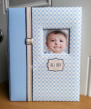 New Cr Gibson Red White Blue All Boy Baby Memory Record Keepsake Book