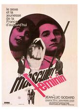 081 CARTE POSTALE film MASCULIN FEMININ de JL Godard avec Chantal Goya JP Leaud