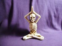 Halloween Yoga Pose Skeleton Figurine, New