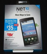 """New & Sealed in Box, NET10 LG POWER L22C 8GB 4.5"""" Android Prepaid 3G Smartphone"""
