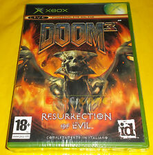DOOM 3 RESURRECTION OF EVIL XBOX (patch X360) Versione Italiana ○○○○ NUOVO