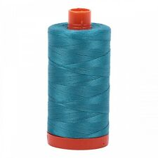 Aurifil DARK TURQUOISE Solid 50Wt 1422Yds Mako Cotton Thread A1050-4182