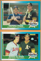 1987 Fleer baseball Jose Canseco Youthful Power #625 W/Rookie All Stars Joyner