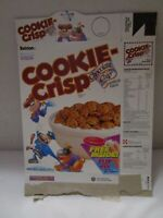 Vintage Ralston Cookie Crisp Chocolate Chip 1989? Cereal Box Empty ~USED~